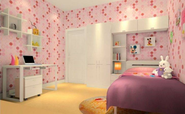 Pink Wood Grain Bedroom Main Wall House