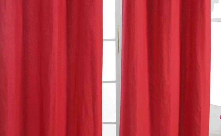 Plain Dyed Heavy Cotton Curtain Eyelet Ready Made Ring Top