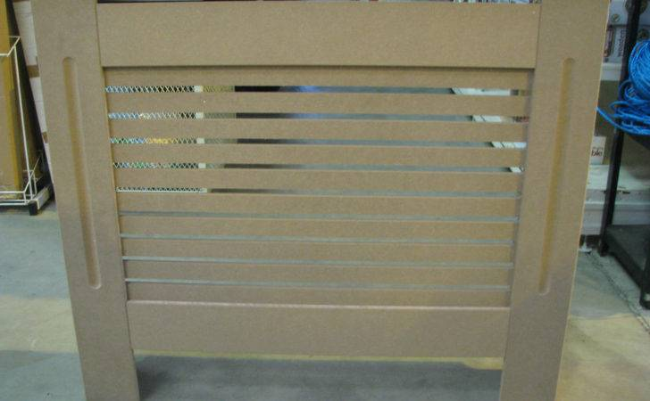 Plain Mdf Slatted Radiator Cover Cabinet Ebay