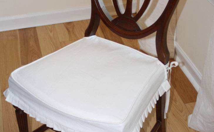 Pleated Dining Chair Seat Covers Design