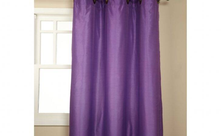 Plum Colored Curtains Panels Solid