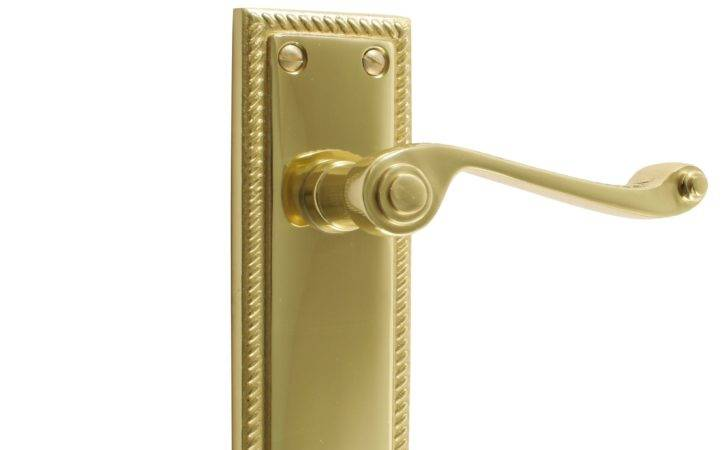 Polished Brass Effect Straight Internal Lever Latch