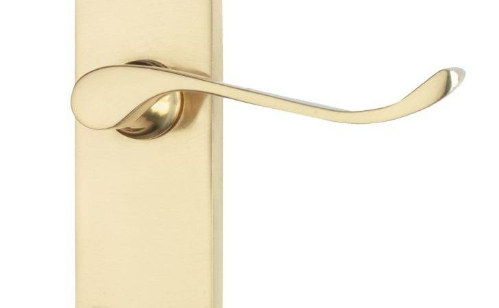 Polished Straight Door Handle Pack Pair