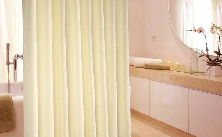 Polyester Shower Curtains Hotels Cream Color Waterfull