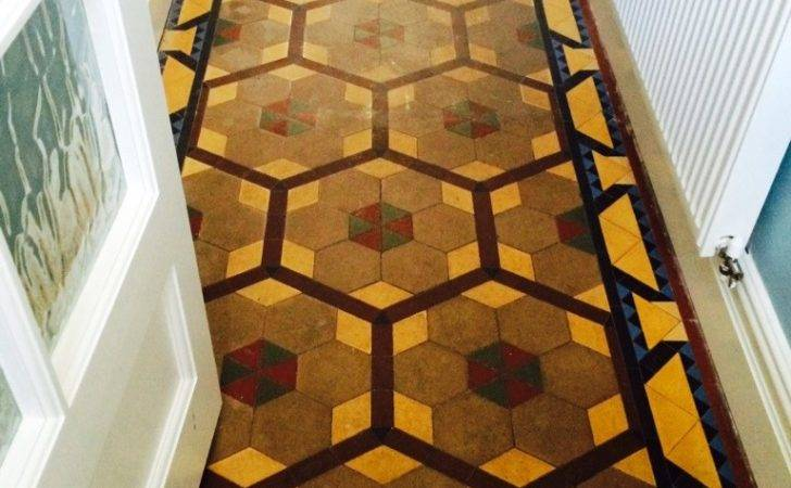 Poorly Maintained Victorian Tiled Floor Revitalised