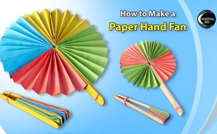 Popsicle Stick Paper Fan Craft Make