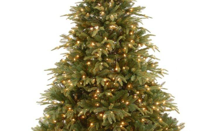 Pre Lit Weeping Spruce Feel Real Artificial Christmas