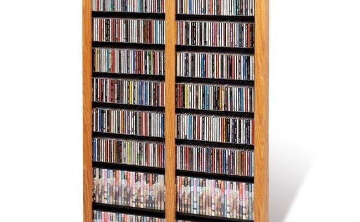 Prepac Double Width Barrister Dvd Media Storage Tower
