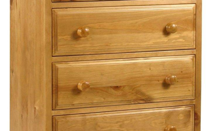 Primrose Solid Chunky Pine Bedroom Furniture Four Drawer