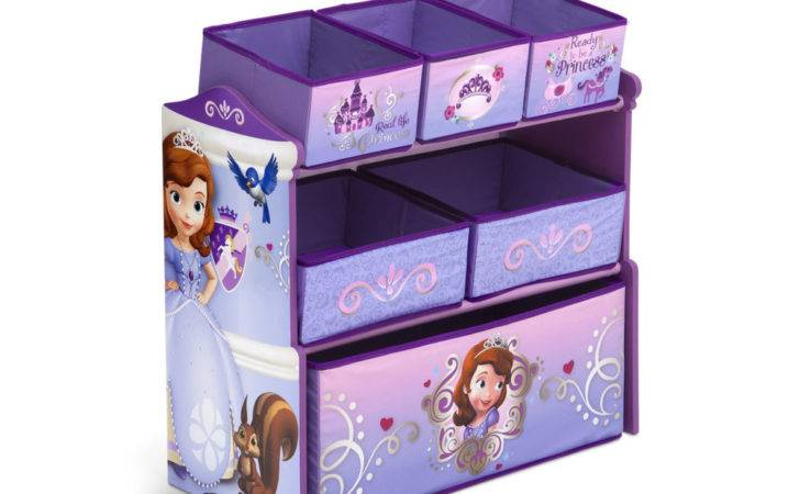 Princess Sofia First Multi Bin Girls Toy Organizer