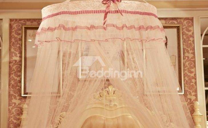 Princess Style Round Dome Polyester Bed Canopy