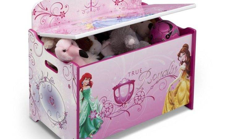 Princess Toy Box Disney Girls Bench Organizer