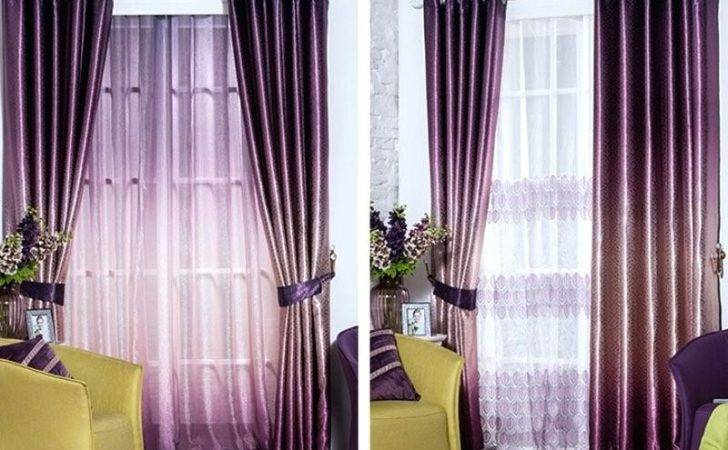 Purple Blackout Curtains Eyelet Curtain Menzilperde