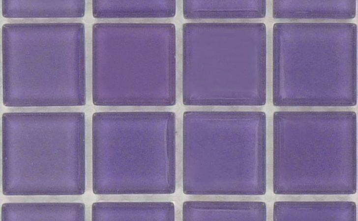 Purple Glass Square Tile Glossy