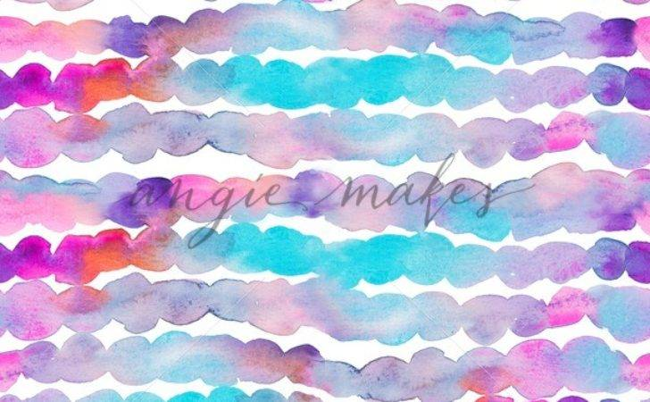 Purple Teal Watercolor Stripes Pattern Angie Makes