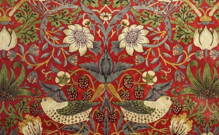 Pvc Tablecloth William Morris Strawberry Thief Red Home
