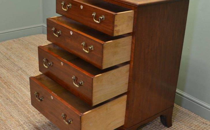 Quality Small Slim Edwardian Mahogany Antique Chest