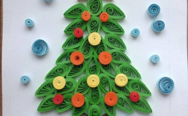 Quilling Christmas Tree Paper Craft Home Decor