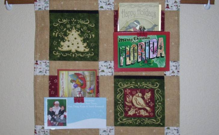 Quilted Christmas Card Holder Wall Hanging