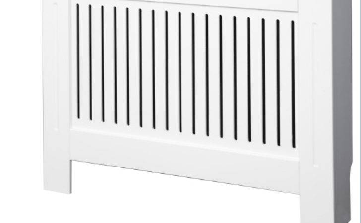 Radiator Cover Small White Vertical Style