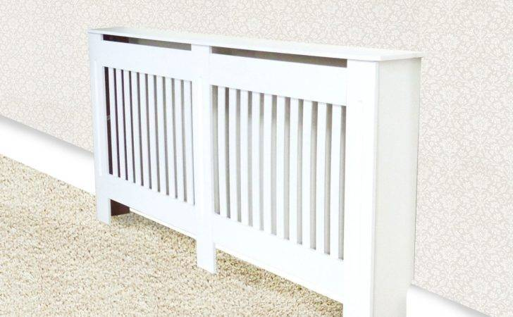 Radiator Cover White Painted Traditional Modern Mdf Wood