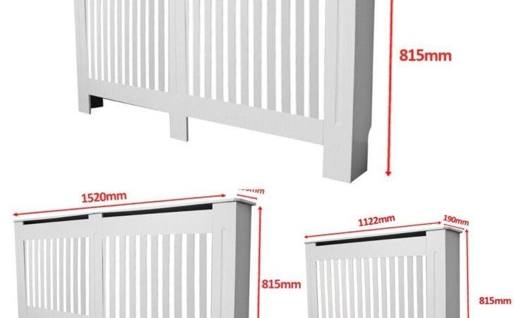 Radiator Cover White Painted Wall Cabinet Mdf Heating