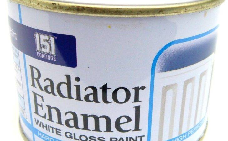 Radiator Enamel Paint White Gloss Heat Resistant Topcoat