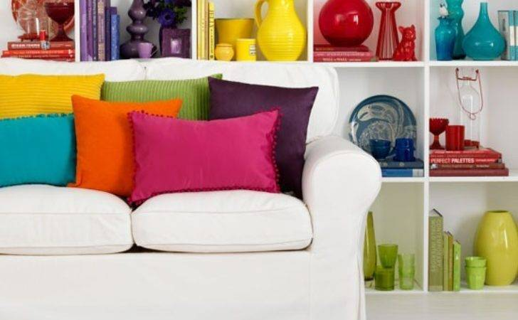 Rainbow Bright Living Room Decorating Colour