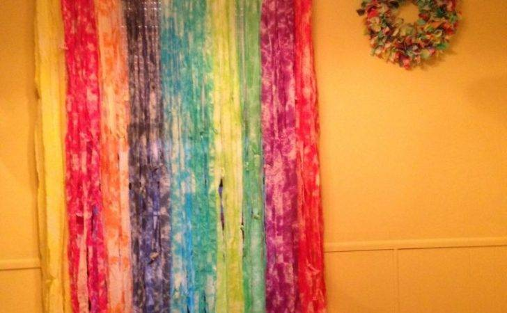 Rainbow Tie Dye Curtains Kim Colorful Crafts