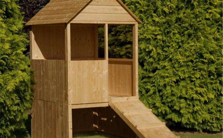 Raised Lookout Playhouse Shedsfirst
