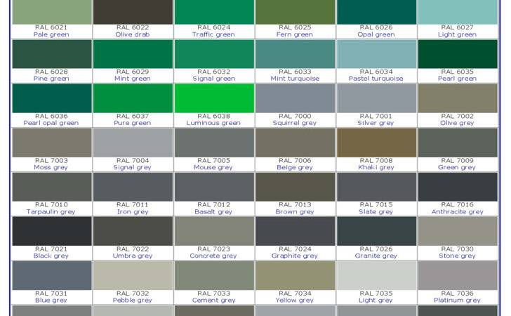 Ral Classic Color Chart