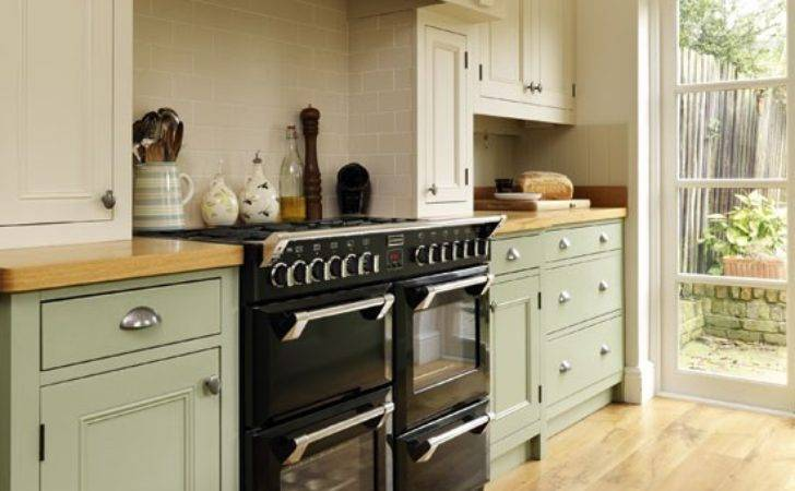 Range Cooker Step Inside Traditional Muted Green