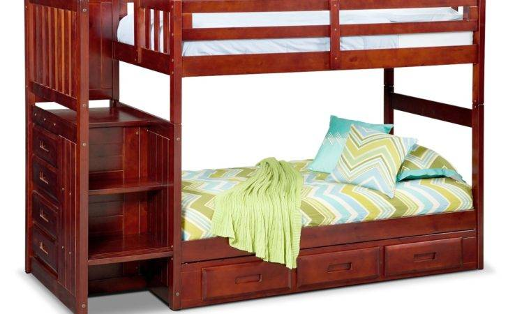 Ranger Twin Over Bunk Bed Storage Stairs