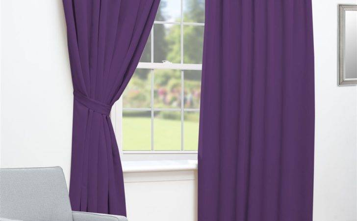Ready Made Curtains Black Thermal Blackout