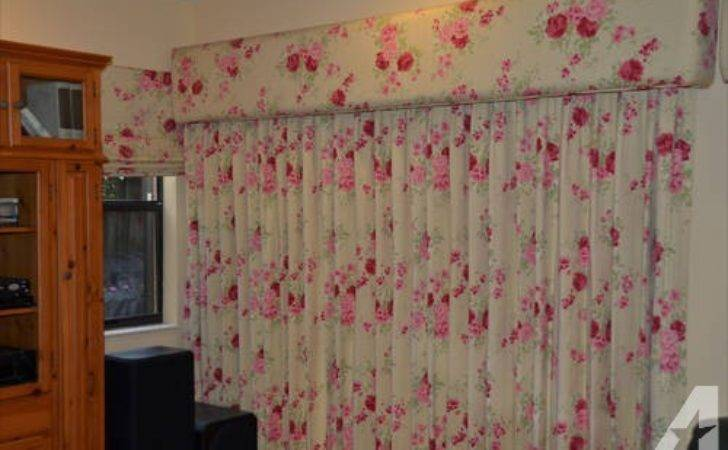 Ready Made Laura Ashley Custom Curtains Drapes Cornice