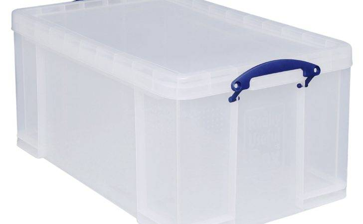 Really Useful Clear Plastic Storage Box Departments