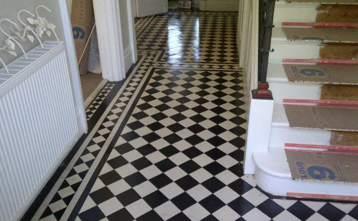 Rebuilt Victorian Tiled Hallway Cleaned Sealed
