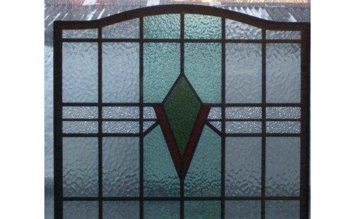 Reclaimed Exterior Front Door Stained Glass