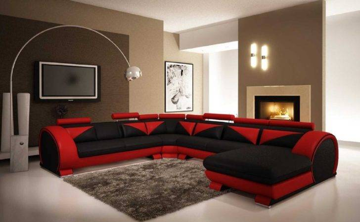 Red Leather Living Room Sets Couches