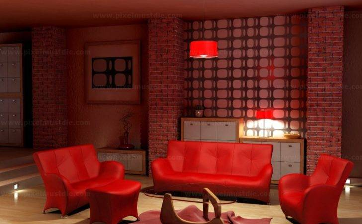 Red Living Room Tjihome