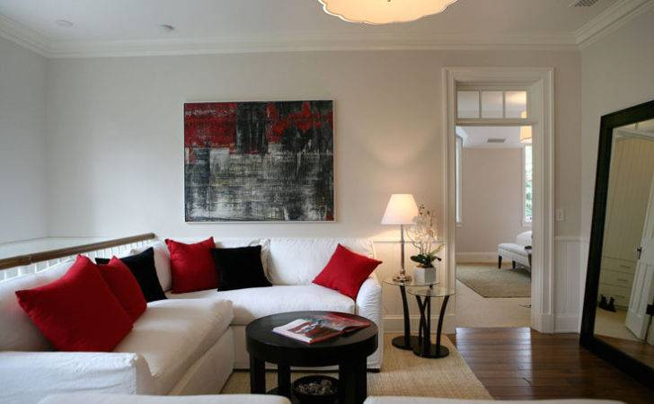 Red White Black Rooms Grasscloth