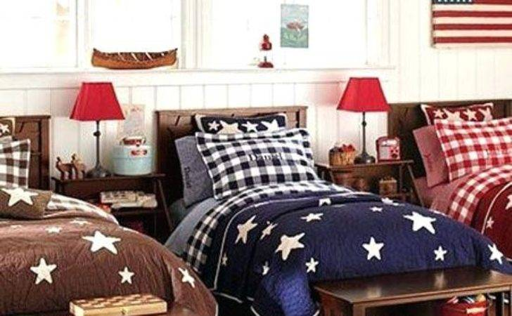 Red White Blue Bedroom Decorating Ideas