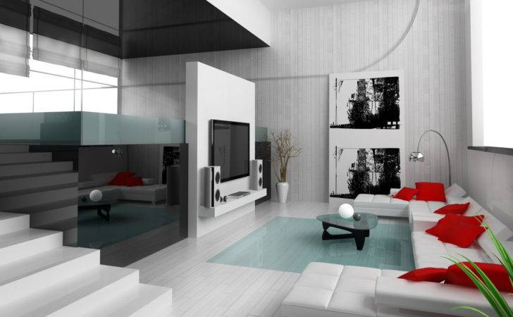 Red White Living Rooms