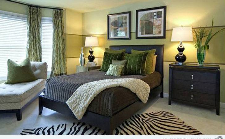Refreshing Bedrooms Yellow Green Colors
