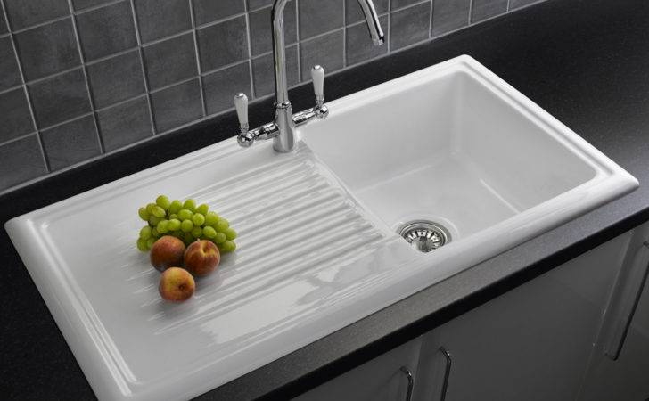 Reginox Bowl White Ceramic Kitchen Sink Waste Tap Pack
