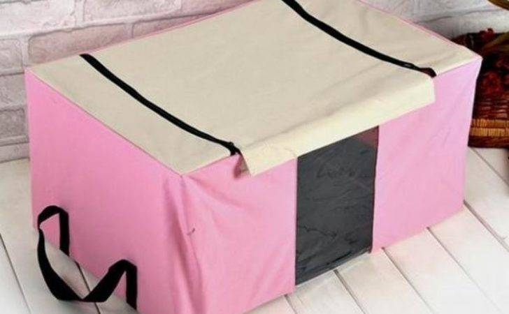 Relax Pink Storage Case Underbed Polyester Box