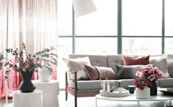 Relaxing Pink Living Room Modern Decorating Ideas