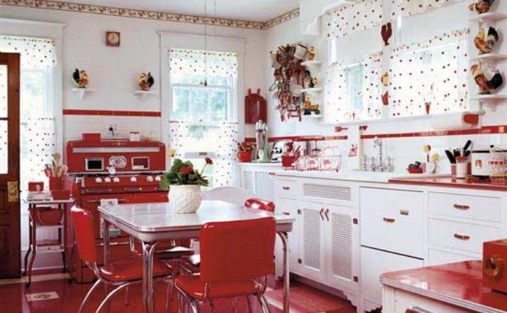 Remake Room Ruby Lane Retro Red Kitchen