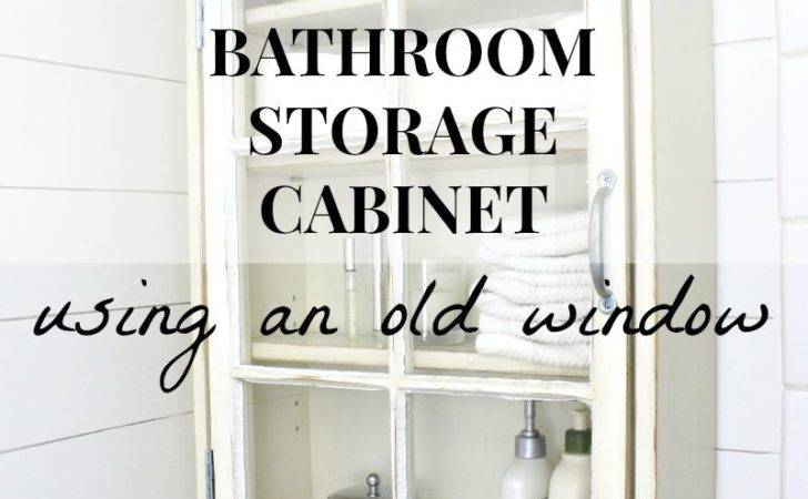 Remodelaholic Bathroom Storage Cabinet Using Old Window