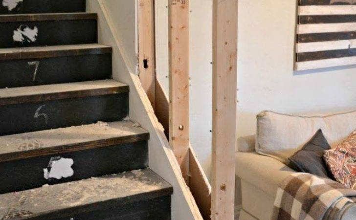 Removing Half Wall Stairs Replace Rail
